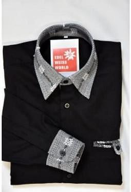 "Edelweiss Hemd ""rocky black"", langarm"