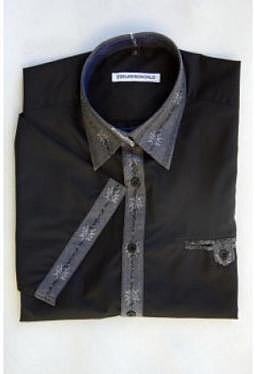 Edelweiss Hemd Kontrast, kurzarm